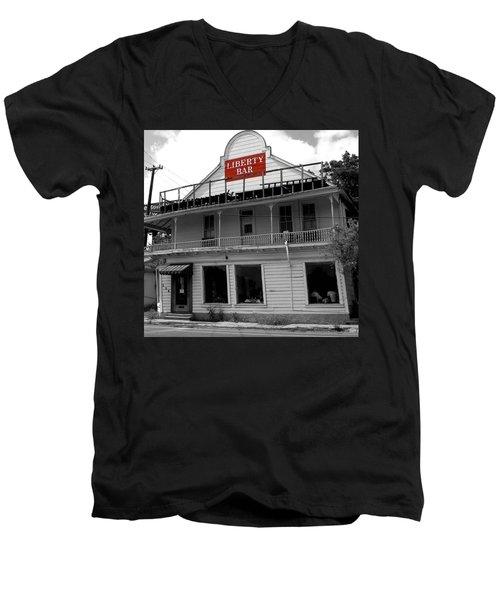 Liberty Bar  Men's V-Neck T-Shirt