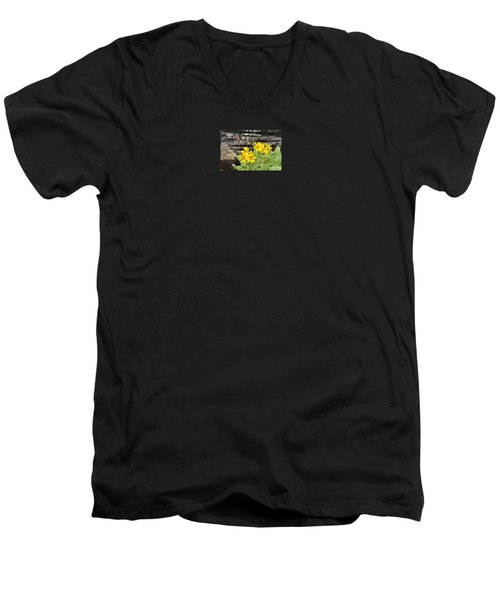 Life After Fire Men's V-Neck T-Shirt by Michele Penner