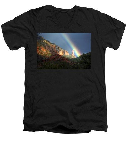 Life Is Beautiful  Men's V-Neck T-Shirt by Saija  Lehtonen