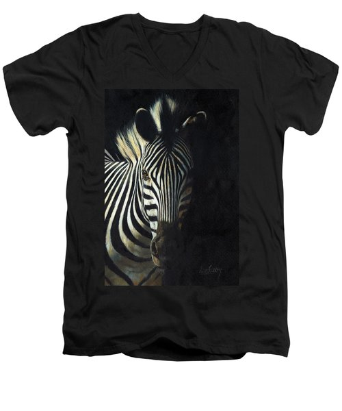 Light And Shade Men's V-Neck T-Shirt by David Stribbling