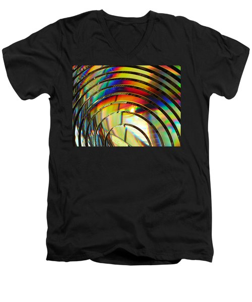 Light Color 2 Prism Rainbow Glass Abstract By Jan Marvin Studios Men's V-Neck T-Shirt