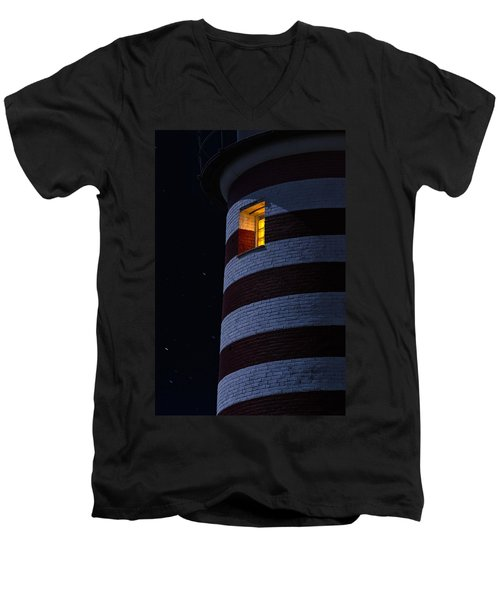 Light From Within Men's V-Neck T-Shirt by Marty Saccone