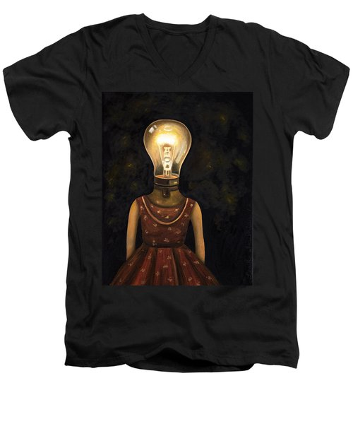 Light Headed Men's V-Neck T-Shirt by Leah Saulnier The Painting Maniac