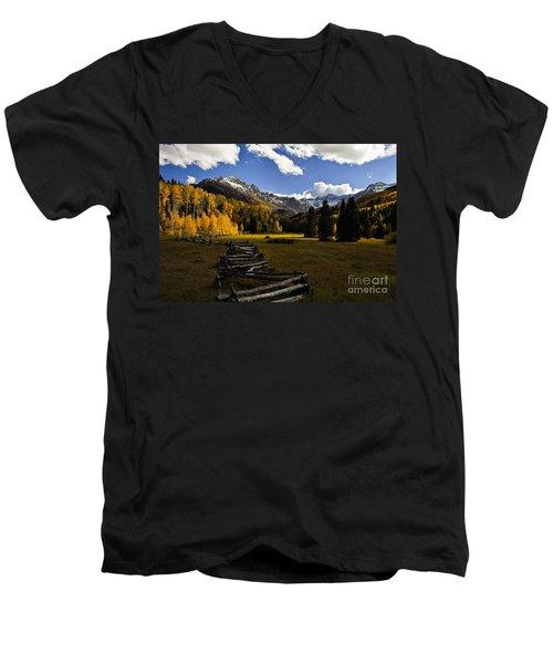 Light In The Valley Men's V-Neck T-Shirt