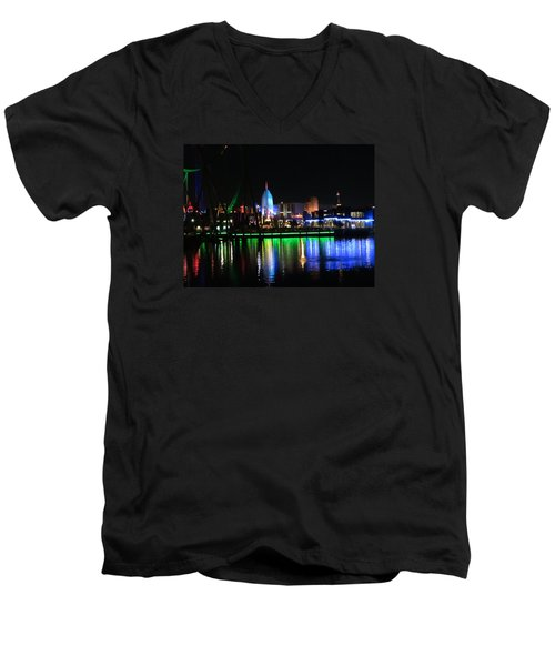 Light Reflections At Night Men's V-Neck T-Shirt