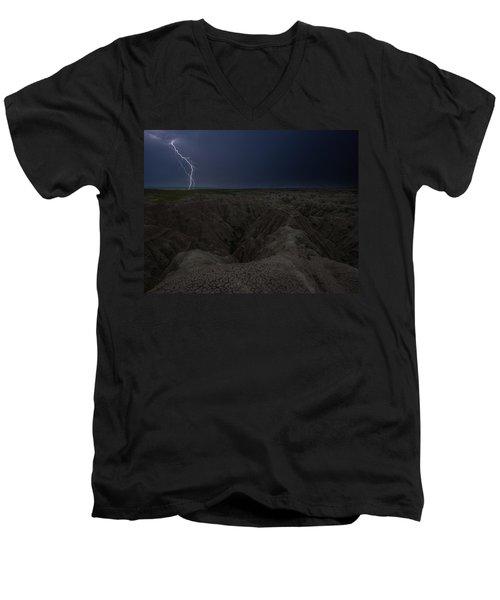 Lightning Crashes Men's V-Neck T-Shirt