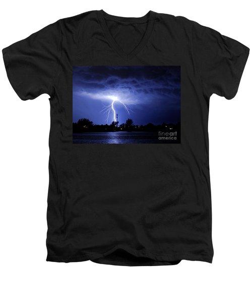 Power From Above Men's V-Neck T-Shirt by Quinn Sedam
