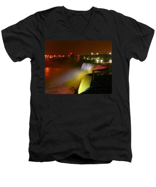 Lights On Niagara Falls Men's V-Neck T-Shirt