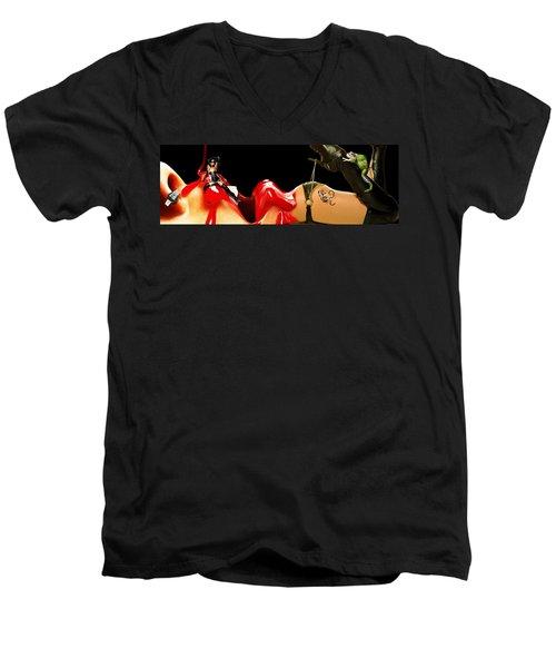 Ligs Men's V-Neck T-Shirt