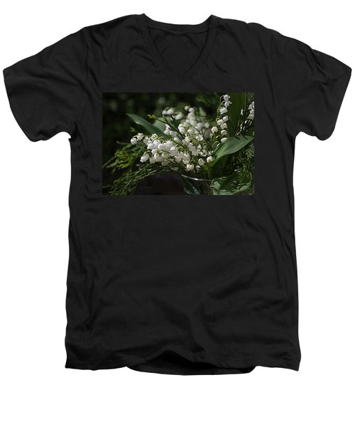 Lilies Of The Valley Men's V-Neck T-Shirt