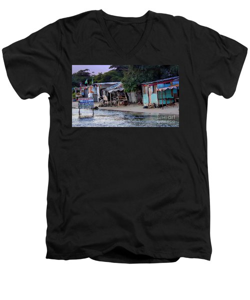 Liliput Craft Village And Bar Men's V-Neck T-Shirt