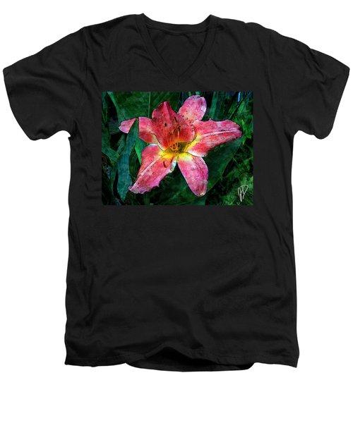 Lilly Of The Rain Men's V-Neck T-Shirt