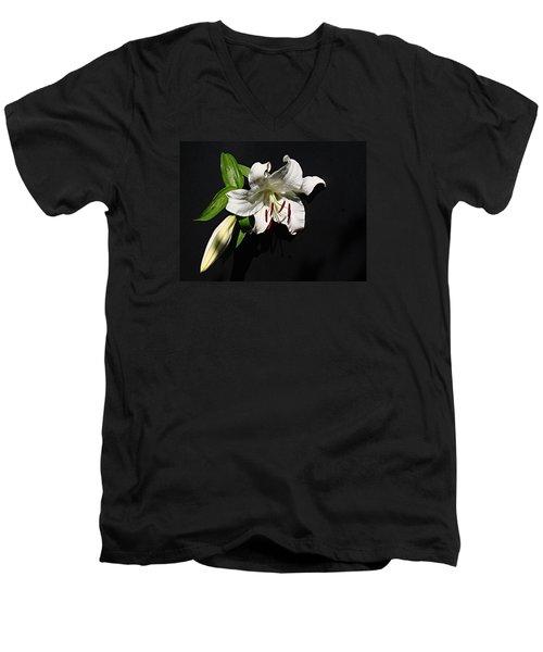 Lily At Daybreak Men's V-Neck T-Shirt