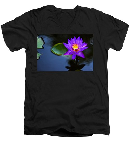 Lily Awakens Men's V-Neck T-Shirt by Dave Files