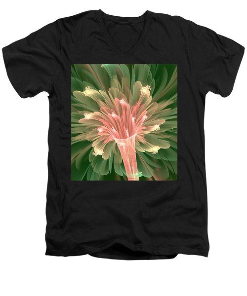 Lily In Bloom Men's V-Neck T-Shirt