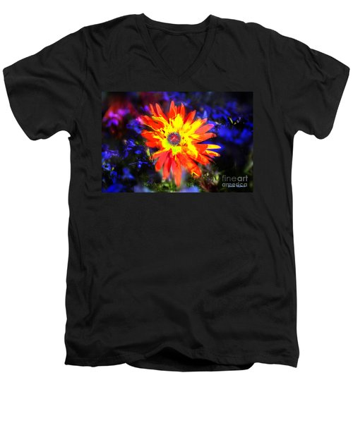 Lily In Vivd Colors Men's V-Neck T-Shirt