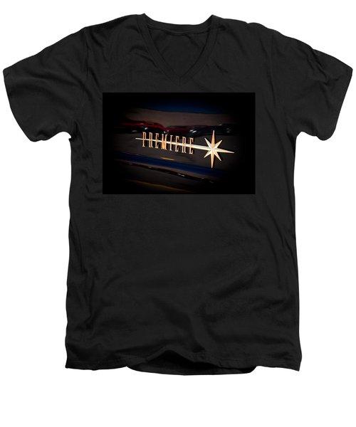 Men's V-Neck T-Shirt featuring the photograph Lincoln Premiere Emblem by Joann Copeland-Paul