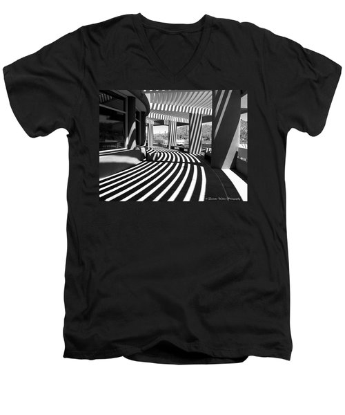 Lines And Curves Men's V-Neck T-Shirt by Lucinda Walter