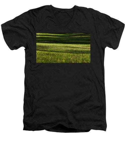 Lines Men's V-Neck T-Shirt by Melissa Petrey