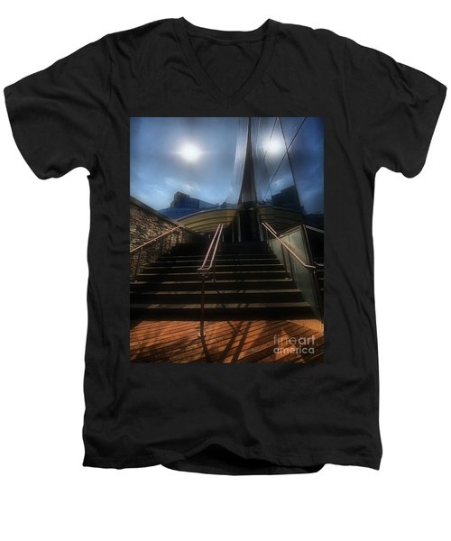 Men's V-Neck T-Shirt featuring the photograph Lines N Textures by Robert McCubbin