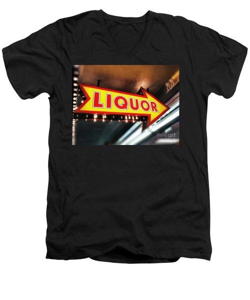 Liquor Store Sign Men's V-Neck T-Shirt