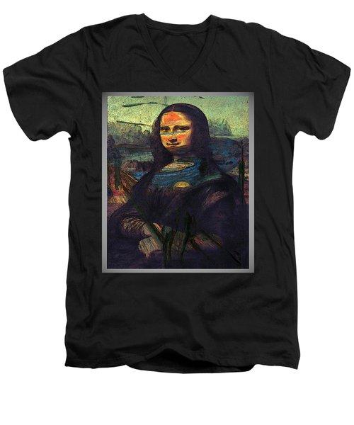 Lisa Munch Scream  Men's V-Neck T-Shirt