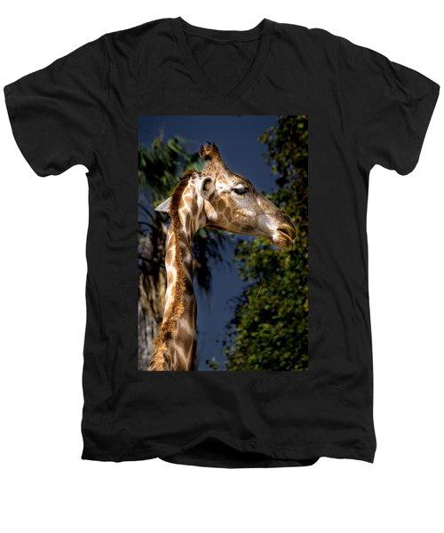 Listening Men's V-Neck T-Shirt