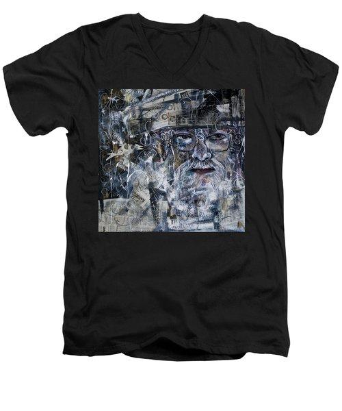 Listening Men's V-Neck T-Shirt by Maxim Komissarchik