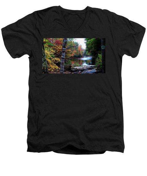 Little Androscoggin River Men's V-Neck T-Shirt