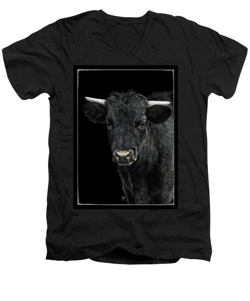 Little Moo Men's V-Neck T-Shirt