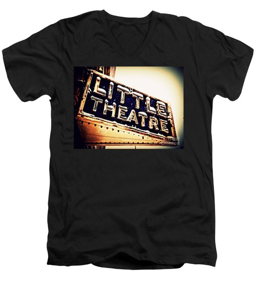 Little Theatre Retro Men's V-Neck T-Shirt