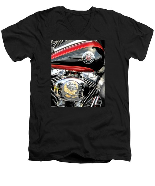 Men's V-Neck T-Shirt featuring the photograph Live To Ride  Ride To Live By David Lawrence by David Perry Lawrence