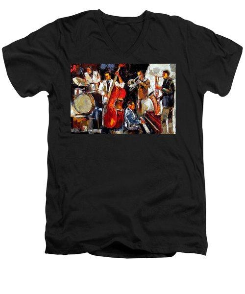Living Jazz Men's V-Neck T-Shirt