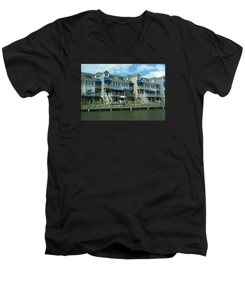 Men's V-Neck T-Shirt featuring the photograph Living On The Dock Of The Bay by Emmy Marie Vickers