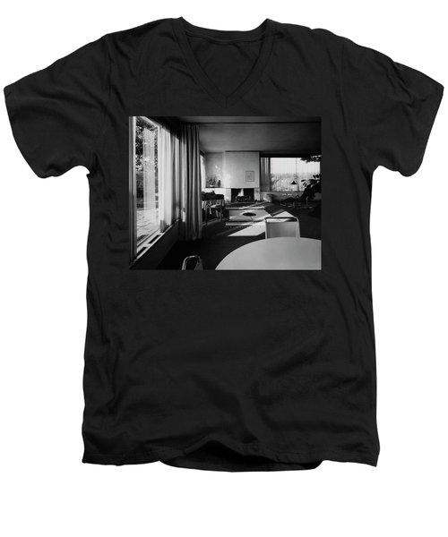 Living Room In Mr. And Mrs. Walter Gropius' House Men's V-Neck T-Shirt