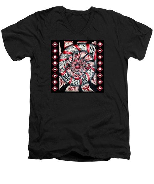 Living Spiral Men's V-Neck T-Shirt