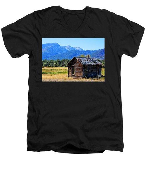 Men's V-Neck T-Shirt featuring the photograph Location Location Location Montana by Joseph J Stevens