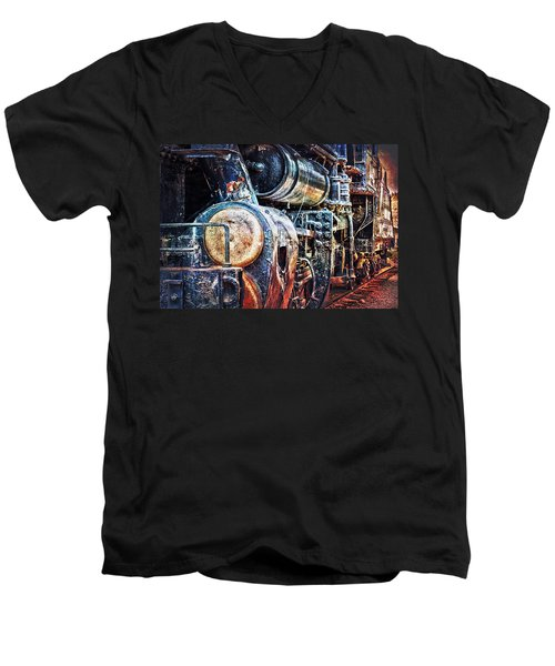 Locomotive Men's V-Neck T-Shirt