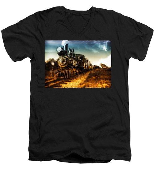 Locomotive Number 4 Men's V-Neck T-Shirt