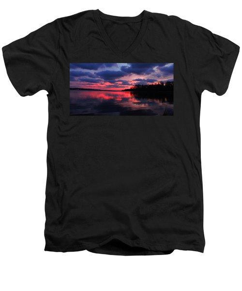 Locust Sunset Men's V-Neck T-Shirt