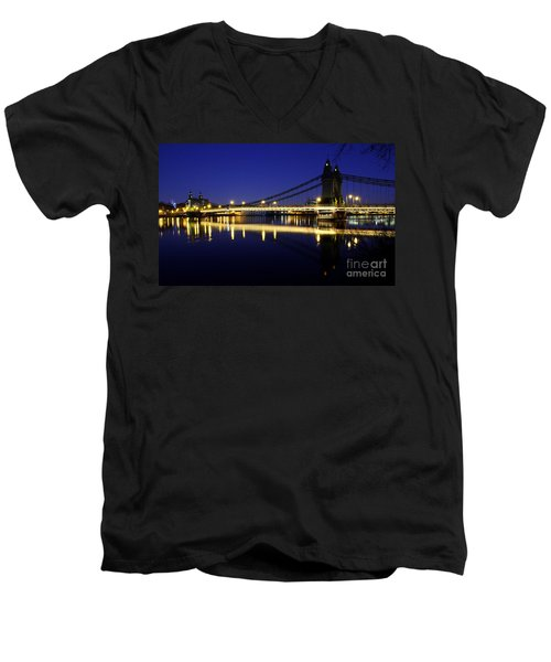 London 11 Men's V-Neck T-Shirt by Mariusz Czajkowski