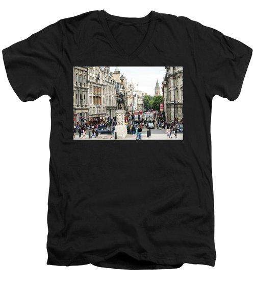 London Whitehall Men's V-Neck T-Shirt