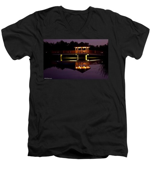 Men's V-Neck T-Shirt featuring the photograph Lone Canoe by Brian Williamson