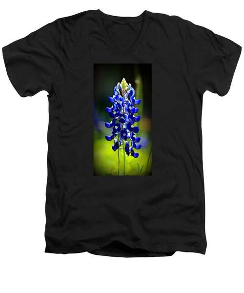 Lone Star Bluebonnet Men's V-Neck T-Shirt