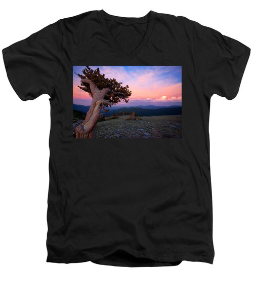 Lonesome Pine Men's V-Neck T-Shirt by Jim Garrison