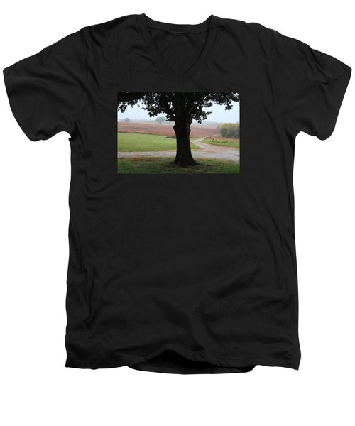 Men's V-Neck T-Shirt featuring the photograph Long Ago And Far Away by Elizabeth Sullivan