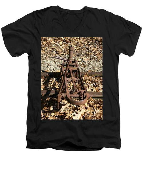 Men's V-Neck T-Shirt featuring the photograph Long Forgotten by Sara  Raber
