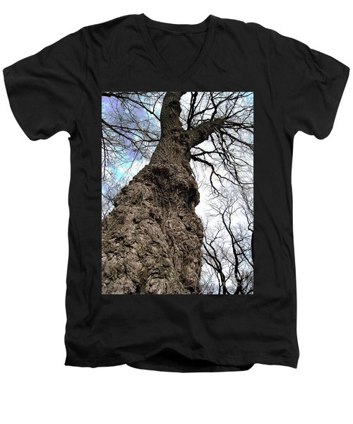 Men's V-Neck T-Shirt featuring the photograph Look Up Look Way Up by Nina Silver