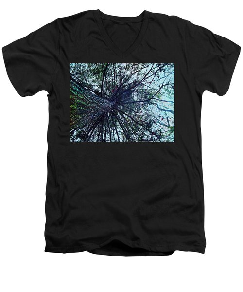 Look Up Through The Trees Men's V-Neck T-Shirt by Joy Nichols