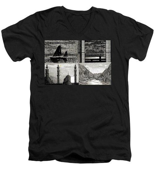 Looking East Men's V-Neck T-Shirt